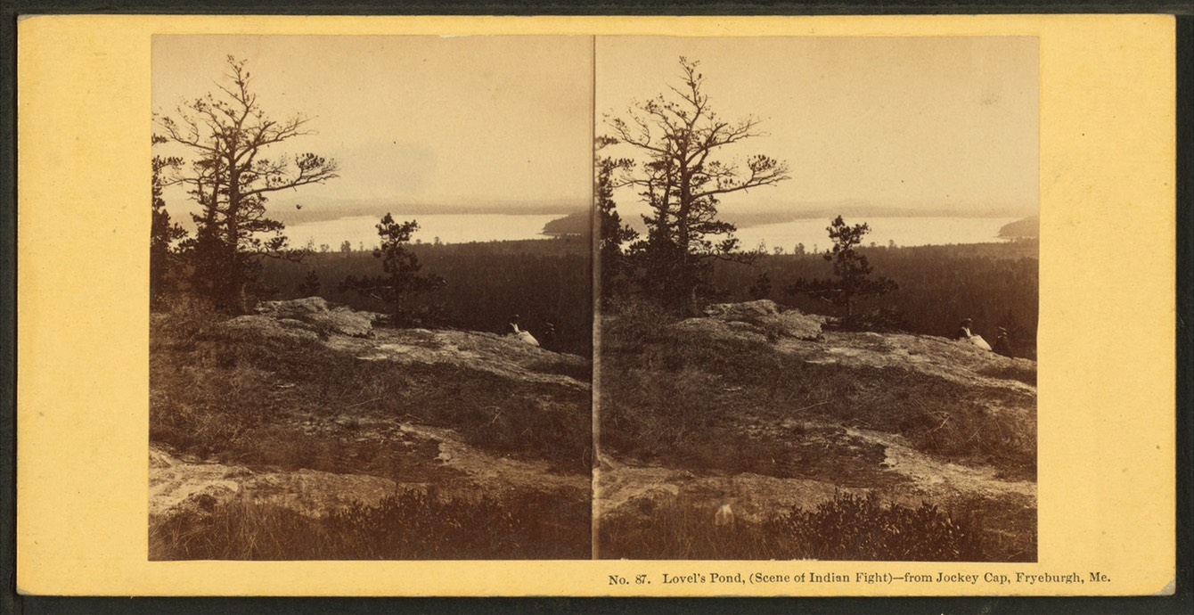 Lovel's (Lovells) Pond, (scene of Indian fight), from Jockey Cap, Fryeburgh, Me, by John P. Soule