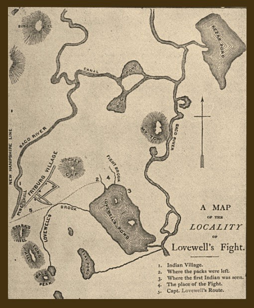 Lovewell Fight Map